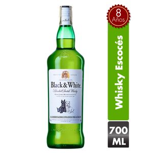 Whisky Black And White 8 Años 700 Ml
