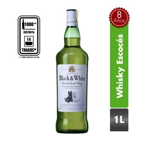 Whisky Black And White 8 Años 1 Lt