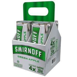 Coctel Smirnoff Ice Green Apple lata x4uni x 250ml