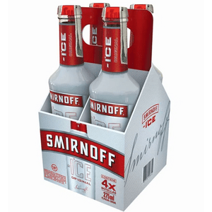 Coctel Smirnoff Ice original botella x4uni x 275ml