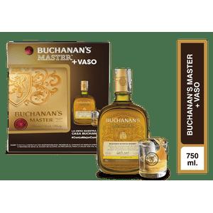 Pack whisky Buchanans Master x 750ml + vaso